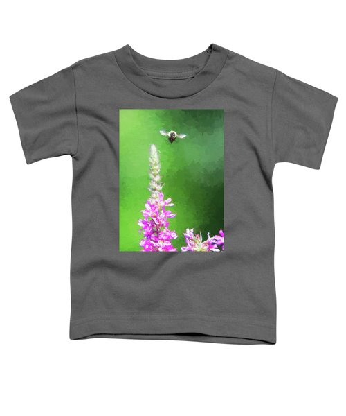 Bee Over Flowers Toddler T-Shirt