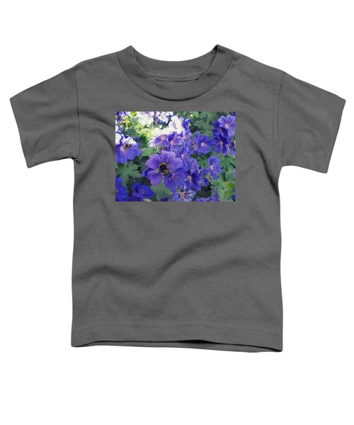 Bees And Flowers Toddler T-Shirt