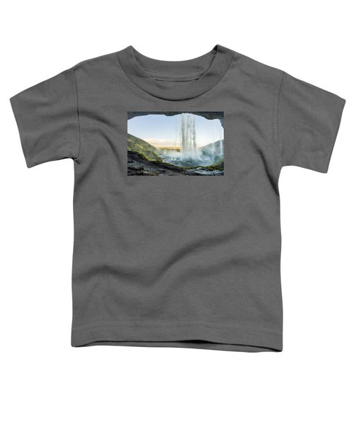 Behind Seljalandsfoss Toddler T-Shirt