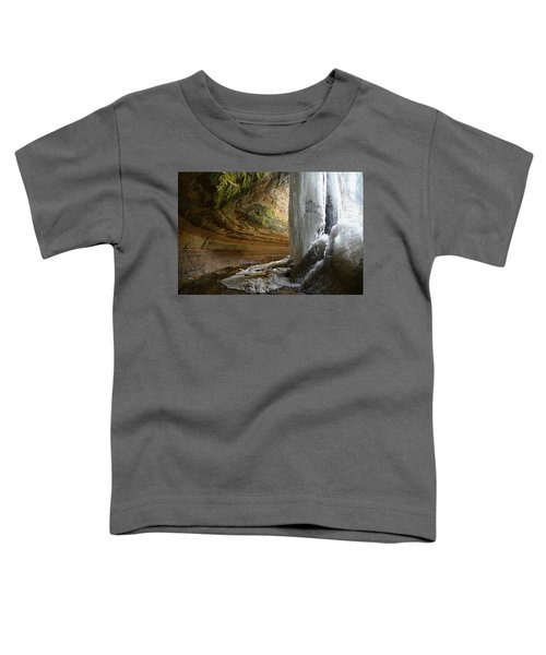 Behind The Ice Falls Toddler T-Shirt