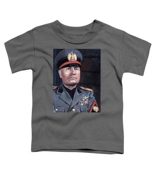 Benito Mussolini Color Portrait Circa 1935 Toddler T-Shirt