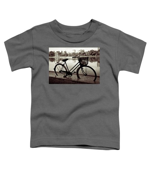 Bicycle By The Lake Toddler T-Shirt