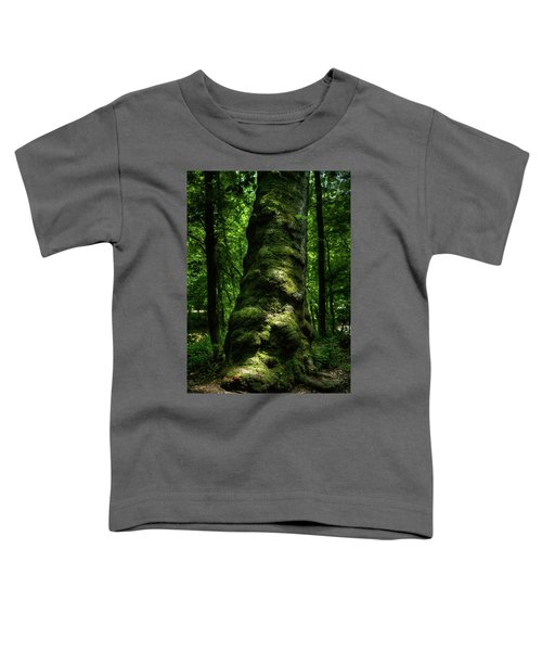 Big Moody Tree In Forest Toddler T-Shirt