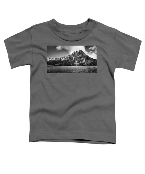 Big Snowy Mountain In Black And White Toddler T-Shirt