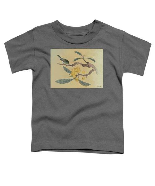 Bird In Loquat Tree Toddler T-Shirt