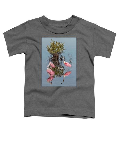 Birds And Mangrove Bush Toddler T-Shirt