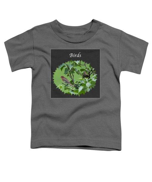 Birds Toddler T-Shirt by Jan M Holden