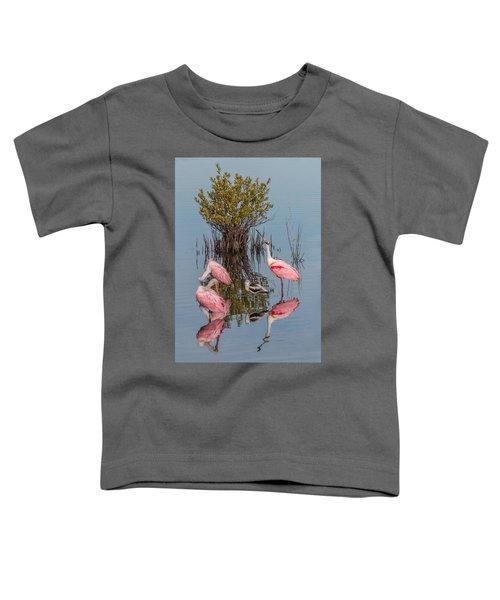 Birds, Reflections, And Mangrove Bush Toddler T-Shirt