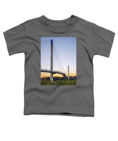 Birds Soaring Over Bob Kerry Bridge Toddler T-Shirt
