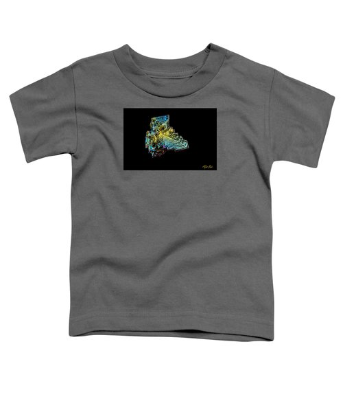 Toddler T-Shirt featuring the photograph Bismuth Crystal by Rikk Flohr