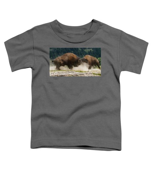 Bison Duel Toddler T-Shirt