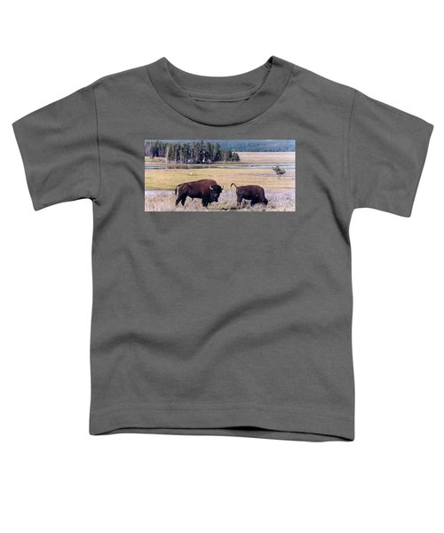 Bison In Yellowstone Toddler T-Shirt