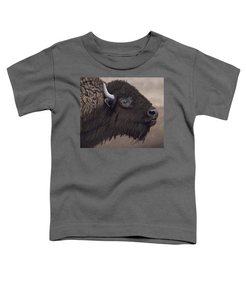 Bison Toddler T-Shirt by Jacqueline Barden