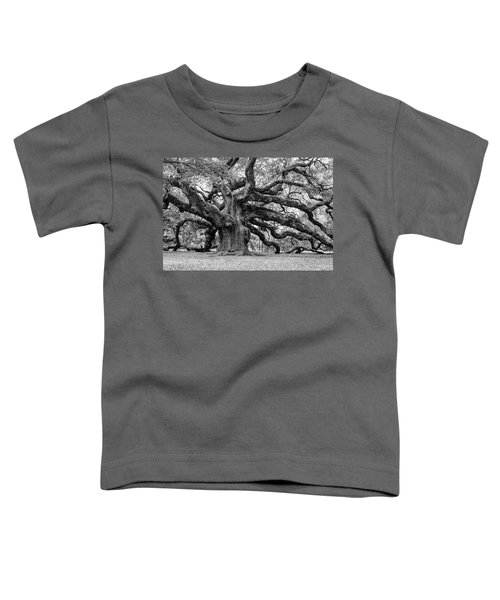 Black And White Angel Oak Tree Toddler T-Shirt