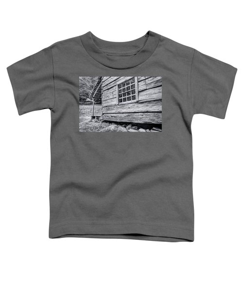 Black And White Cabin In The Forest Toddler T-Shirt