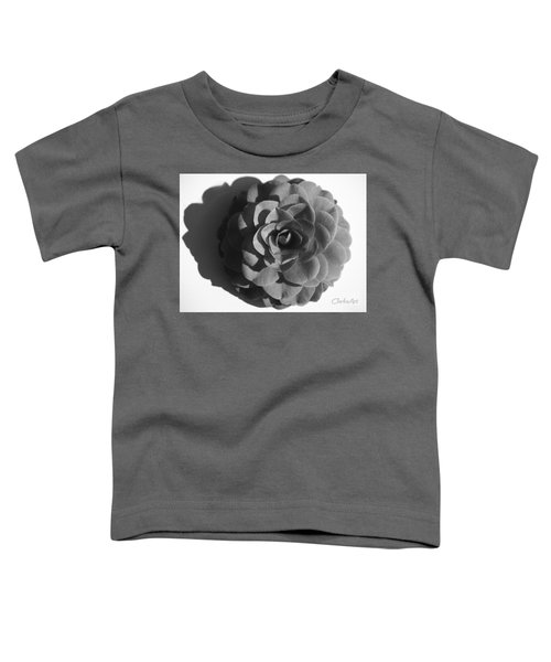 Camellia In Black And White Toddler T-Shirt