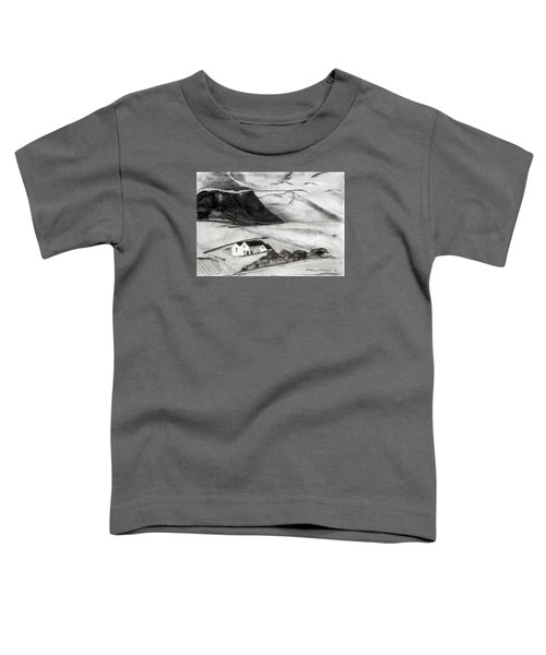 Black And White House And Hills Toddler T-Shirt