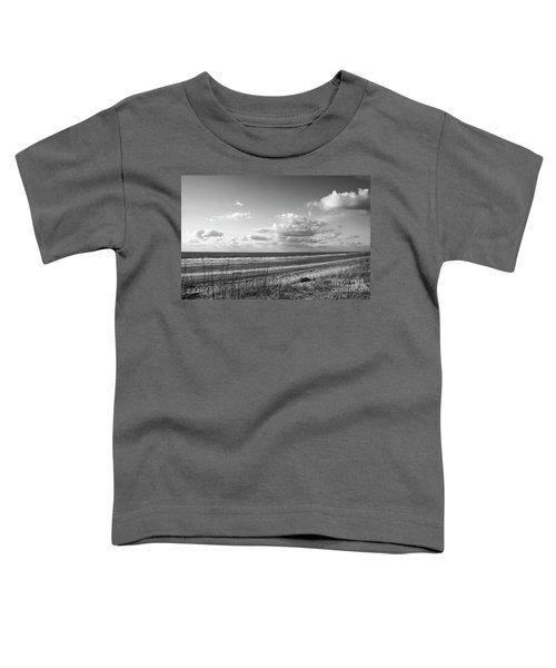 Black And White Ocean Scene Toddler T-Shirt