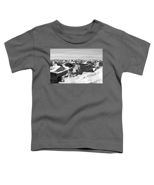 Black And White Of The Summit Of Mount Elbert Colorado In Winter Toddler T-Shirt