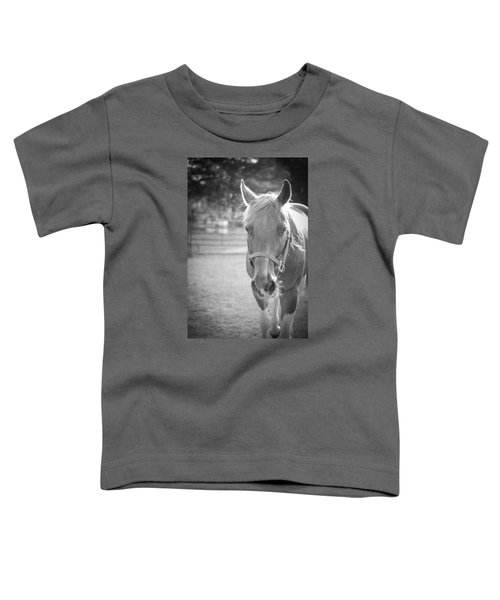 Black And White Portrait Of A Horse In The Sun Toddler T-Shirt