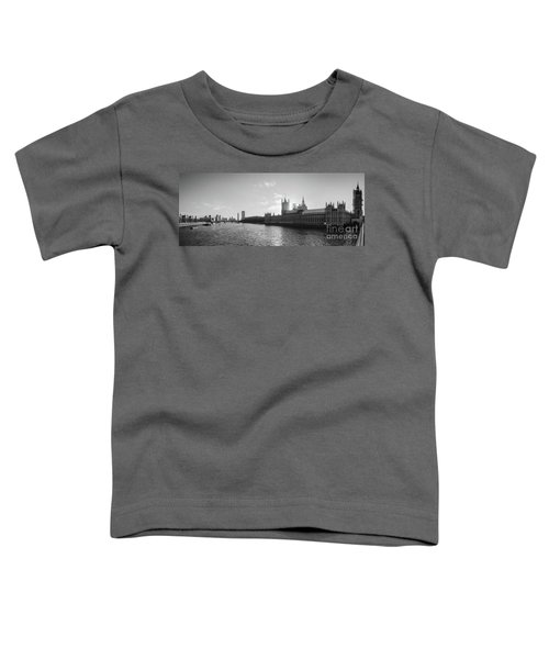 Black And White View Of Thames River And House Of Parlament From Toddler T-Shirt
