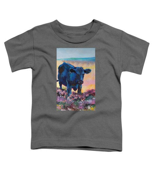 Black Cow On Dartmoor - Looking Moody Toddler T-Shirt