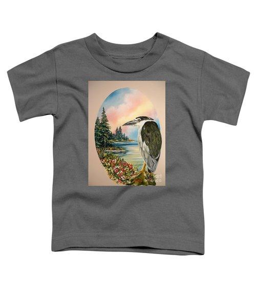 Flying Lamb Productions                     Black Crowned Heron Toddler T-Shirt