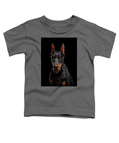 Black Doberman Toddler T-Shirt