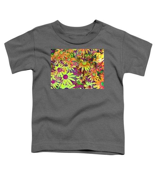 Black-eyed Susan   Abstract  Toddler T-Shirt