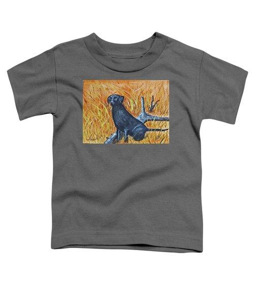 Black Lab-2 Toddler T-Shirt