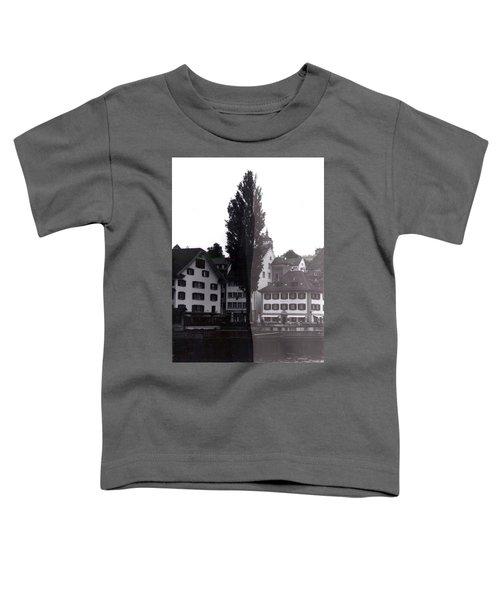 Black Lucerne Toddler T-Shirt by Christian Eberli