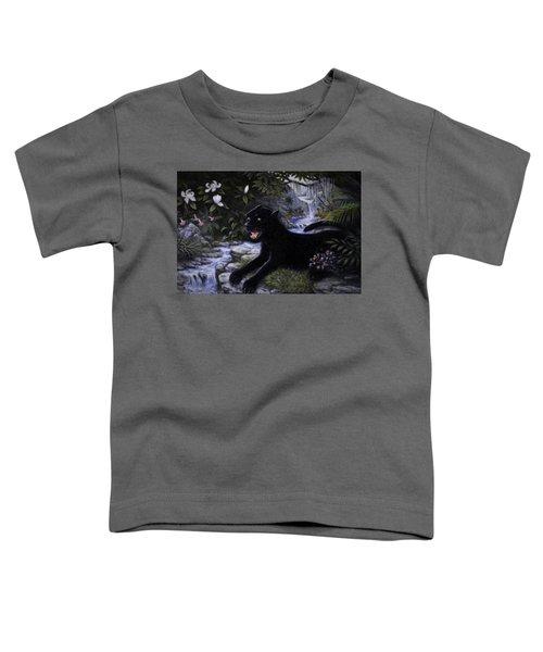 Black Panther Toddler T-Shirt by Charles Kim
