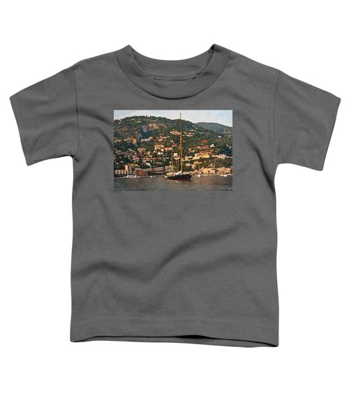 Black Sailboat At Villefranche II Toddler T-Shirt