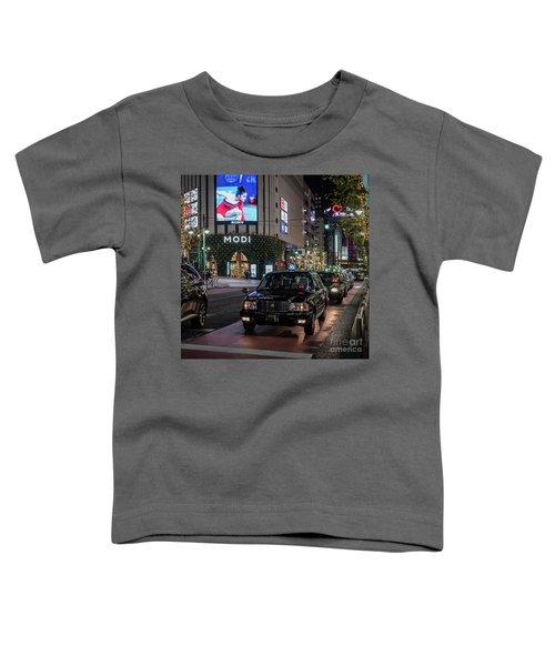 Black Taxi In Tokyo, Japan Toddler T-Shirt