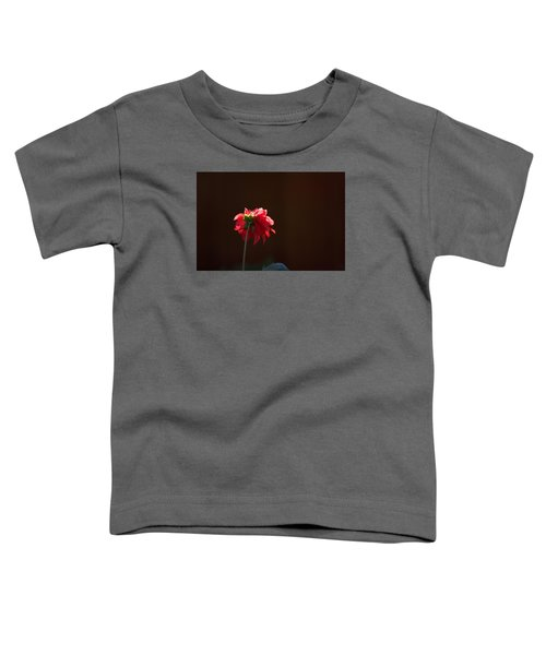 Toddler T-Shirt featuring the photograph Black With Rose by Lora Lee Chapman