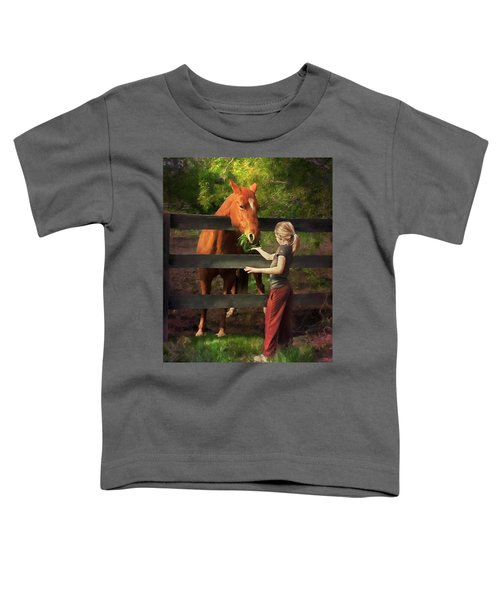 Blond With Horse Toddler T-Shirt