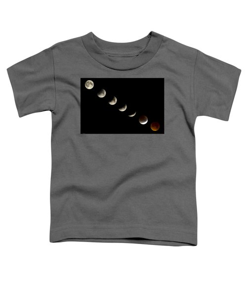Bloodmoon Lunar Eclipse With  Phases Composite Toddler T-Shirt