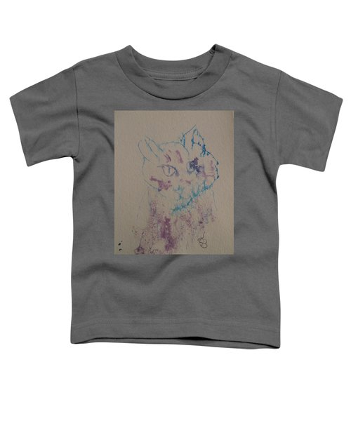 Blue And Purple Cat Toddler T-Shirt