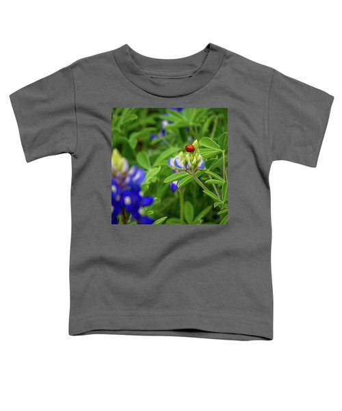 Texas Blue Bonnet And Ladybug Toddler T-Shirt