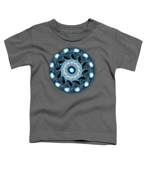Blue Circle Toddler T-Shirt by Anastasiya Malakhova
