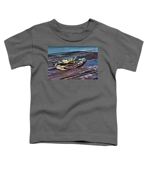 Blue Crab - Above View Toddler T-Shirt