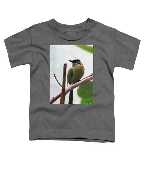 Blue-crowned Motmot Oil Toddler T-Shirt