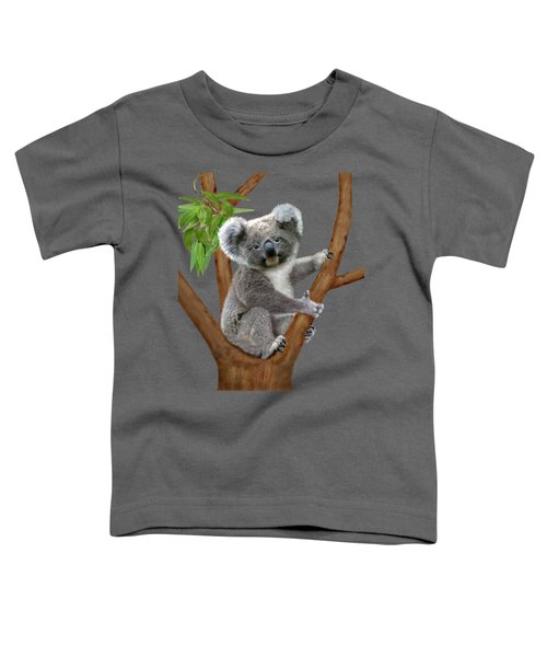 Blue-eyed Baby Koala Toddler T-Shirt by Glenn Holbrook