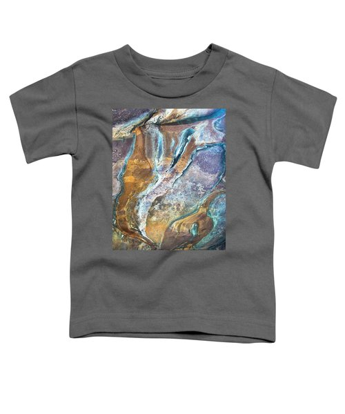 Toddler T-Shirt featuring the photograph Blue Fantasy, Bhimbetka, 2016 by Hitendra SINKAR