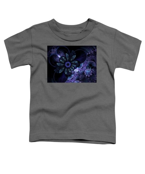 Blue Fleur And Lace Toddler T-Shirt