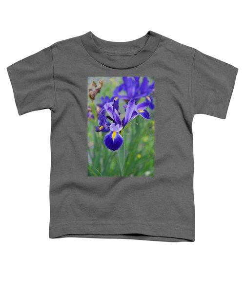 Blue Iris Flower Toddler T-Shirt