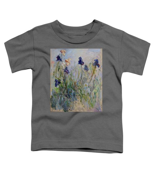 Blue Irises In The Field, Painted In The Open Air  Toddler T-Shirt