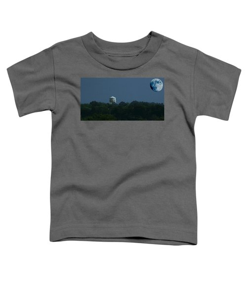 Blue Moon Over Zanesville Water Tower Toddler T-Shirt