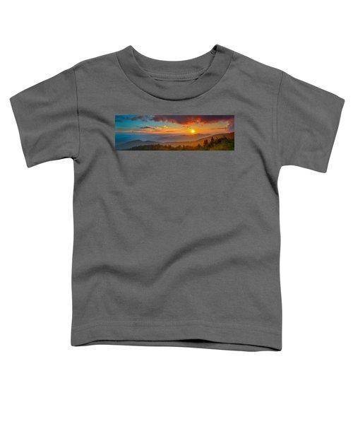 Blue Ridge Sunset Pano Toddler T-Shirt