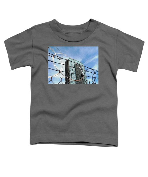 Blue Sky And Barbed Wire Toddler T-Shirt